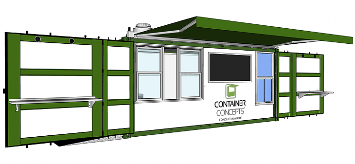Container Concepts 20 - Side Open
