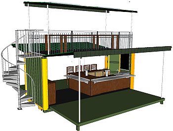 20' Flip Out Event Container