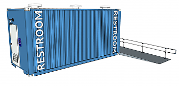 20' Restroom Container
