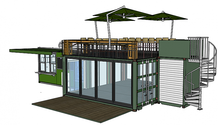 Cafe With Dining Deck